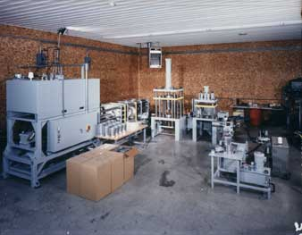 Image of a custom hydraulic press line